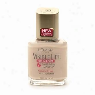 L'oreal Visible Lift Line Minimizing Makeup Spf 17, Serum Inside, Light Ivory 101