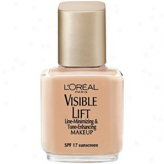 L'oreal Visible Lift Line Munimizint Makeup Spf 17, Serum Inside, Bare Beige 105
