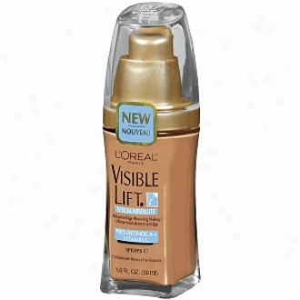 L'oreal Visible Lift Serum Independent Advanced Age-reversing Makeup Spf 17, Classic Tan