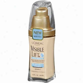 L'oreal Visible Lift Serum Absolute Advanced Age-reversing Makeup Spf 17, Light Ivory