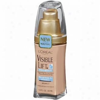 L'oreal Visible Lift Serum Positive Advanced Age-reversing Makeup Spf 17, Creamy Natural