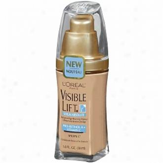 L'oreal Visible Lift Serum Absolu5e Advanced Age-reversing Makeup Spf 17, Natural Buff
