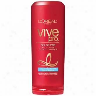 L'oreal Vive Pro Color Vive Conditioner, Color-treated Hair That's Normall