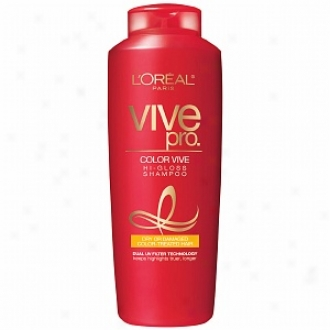 L'oreal Vive Pro Color Vive Hi-gloas Shampoo, Dry Or Damaged Color-treated Hair