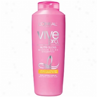 L'oreal Vive Pro Nutri Gloss Mirror Shine Shampoo, For Medium To Long Hair That's Normal To Fine