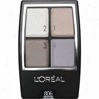 L'oreal Wear Infinite Studio Secrets Eyeshadow Quad, For Blue Eyes, Canyon Stone