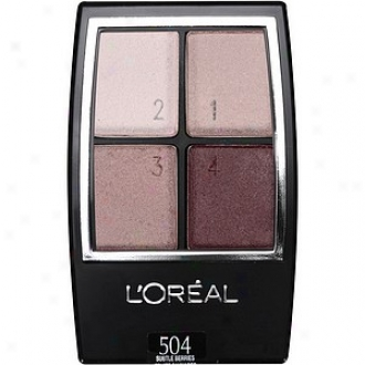 L'oreal Wear Infinite Studio Secrets Eyeshadow Quad, Subtle Berrids 504, Matte-perle-rich