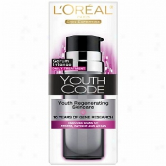 L'oreal Youth Code Youth Regenerating Skincare Serum Intense Daily Treatment