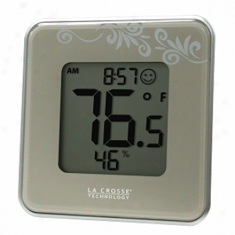 La Crosse Technology Digital Thermometer & Hygrometer Station, Silver