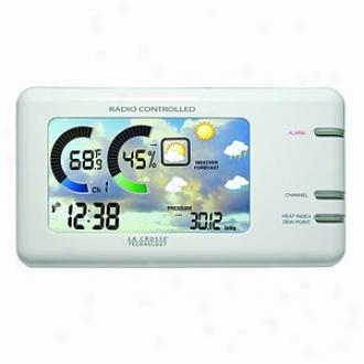 La Crosse Technology Weather Station, Lcd Color Wireless, White Model Ws-450w
