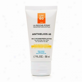 La Roche-posay Anthelios 60 Melt In Sunscreen Lotion, Spf 60, Normal To Dry Skin