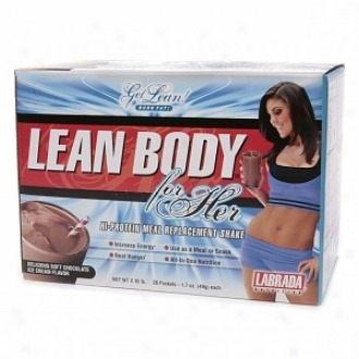 Labrada Nutrition Lean Body For Her, Hi-profein Meal Replacement Shake, Soft Chocolate Ice Cream