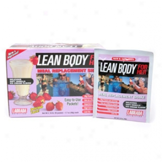 Labrada Nutrition Lean Carcass For Her Meal Replacement Shake Packets, Sof tVanilla Ice Cream