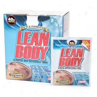 Labrada Nutrition Lean Body Hi-protein Meal Replacement Shake Packets, Chocolate Ice Cream