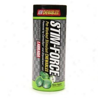 Labrada Nutrition Stim-force Pre-workout Stimulant, Chewables, Sour Apple
