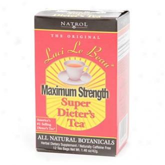 Laci Le Beau Maximum Strength Super Dieter's Tea, All Natural Botanicals