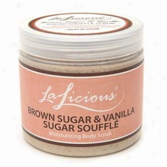 Lalicious Sugar Sojffle Moisturizing Body Scrub, Brown Sugar And Vanilla