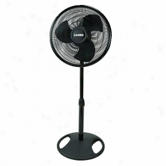 Lasko 2521 16   Oscillating Stand Fan, 3-speed, Boack