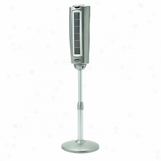 Lasko 2535 52   Space-saving Oscillating Pedestal Fan W Remote Control, 3-speed