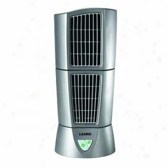 Lasko 4910 Platinum Deesktpp Wind Tower, 3-speed, Silver