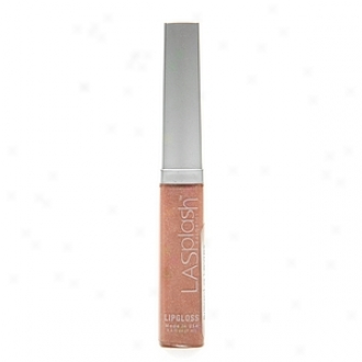 Lasplash Cosmetics Lip Gloss, Indulgence (nuee With Silver Flakes)