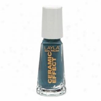 Layla Ceramic Effect Nail Polish, Vintage Turquoise 25