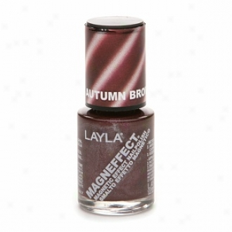 Layla Magneffect Magnetic Effect Nail Polish, Autumn Brown