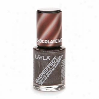 Layla Magneffect Magnetic Effect Naik Polish, Chocolate Mousse