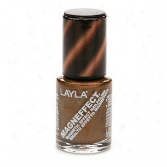 Layla Magneffect Magnetic Effect Nail Polish, Golden Bronze