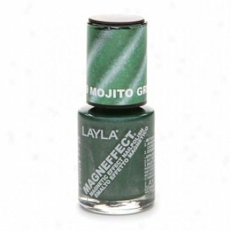 Layla Magneffect Magnetic Effect Nail Polish, Mohito Green