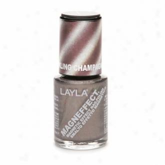 Layla Magneffect Magnetic Effect Nail Polish, Bubbling Champagne
