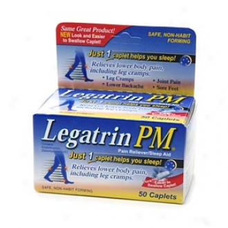 Legatrin Pm Caplets, Advanced Formula Pain Reliever With Sleep Aid