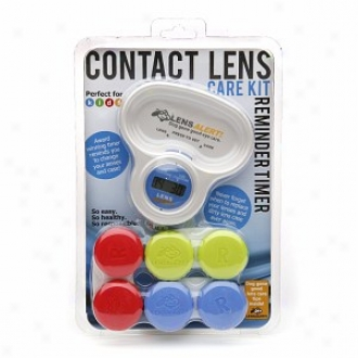Lensalert Contact Care Kit Reminder Timmer + 3 Lens Cases