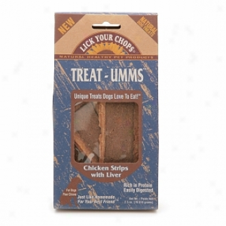 Blow Your Chops Treat-umms Natural Dog Treats, Chicken Strips With Liver