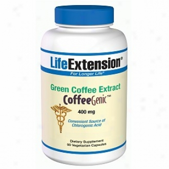 Biography Extension Coffeegenic Green Coffee Extract 400mg, Veggie Caps