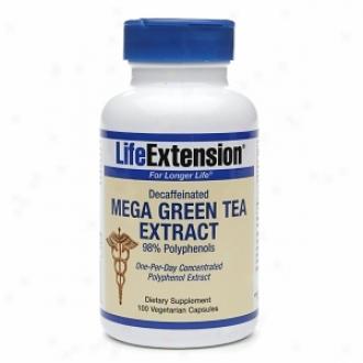 Life Extension Decaffeinated Mega Green Tea Extract, Vegetarian Capsules