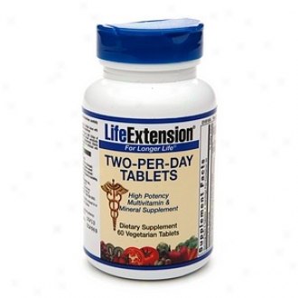 Lfe Extensin Two-per-day High Authority Multivitamin, Veggie Tabs
