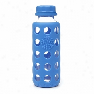 Lifefactory Glass Water Bottle With Silicone Sleeve, 9 Oz, Ocean Blue