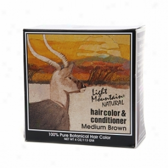 Light Mountain Natural aHir Color & Conditioning Program, Brown