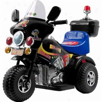 Lil' Rider Deputy Battery Operated 3 Wheel Bike Black Ages 2-5
