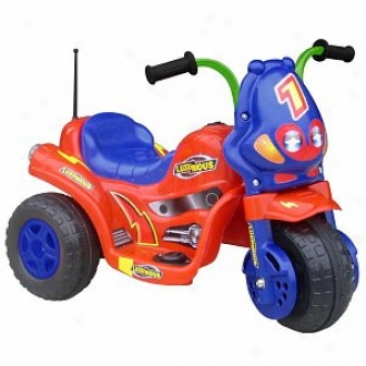 Lil' Rider Lux 3 Battery Operated 3 Revolve Bike Red And Azure Ages 2-5