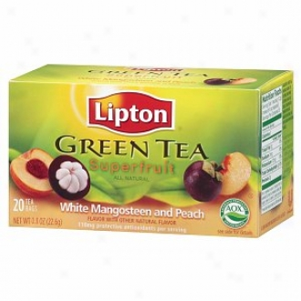 Lipton Green Tea, Superfruit, White Mangosteen And Peach