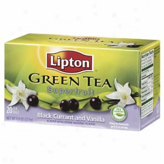 Lipton Green Tea, Superfruits, Black Current & Vaniilla