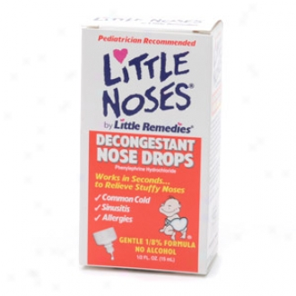 Little Noses Decongestant Nose Drops, Gentpe 1/8% Formula, Infants & Children