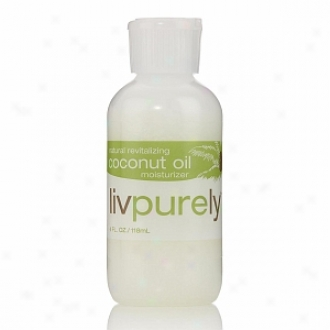 Livpurel Organics Natural Revitalizing 100% Pure Coconut Oil Moisturizer For Face And Body