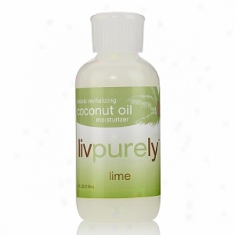 Livpurely Organics Natural Revitalizing Coconut Oil Moizturizer With Lime For Face And Body