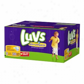 Luvs Diapers With Ultra Leakguards, Economy Plus Pack, Size 5, 27+ Lbs, 150 Ea