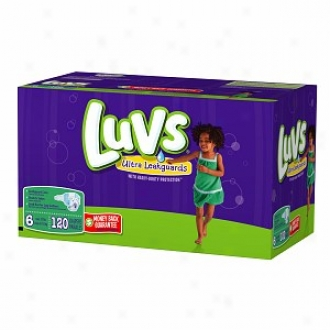 Luvs Diapers With Ultra Leakguards, Economy Plus Pack, Size 6, 35+ Lbs, 120 Ea