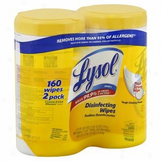 Lysol Disinfecting Wipes Premium Pack, Lemon & Lime Blossom