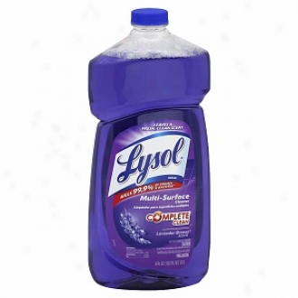 Lysol Multi Surface Cleaner, Pourable Bottle, Lavebder Breeze